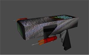 pistol toy phaser 3d model