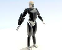 humanoid warrior animation 3d obj