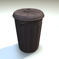 3d plastic trash bin model