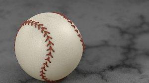 3d model baseball ball