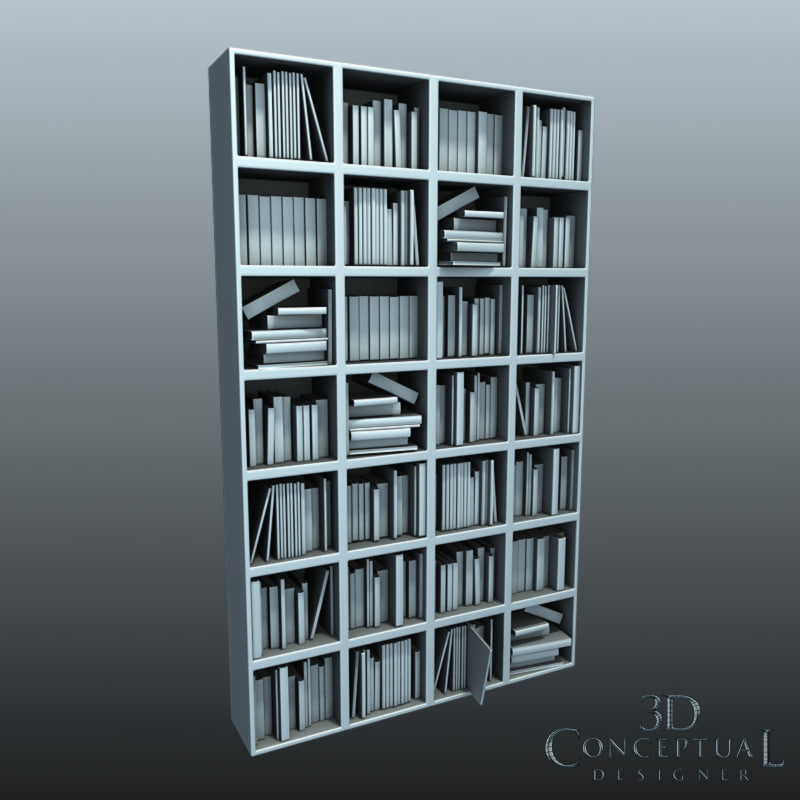 bookcase filled books magazines max