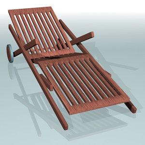 c4d deckchair deck chair