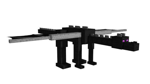 3d model enderdragon minecraft rigged