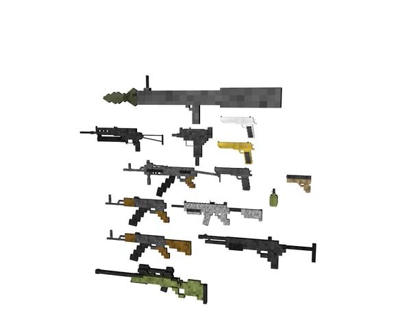 weapons pack v1 3d model
