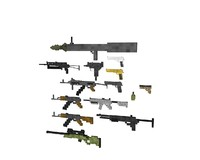 weapons pack v1 3d model