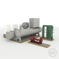 3d heat exchange pump model
