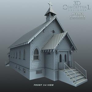 1900 church 3d max