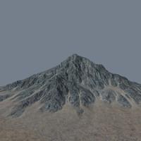 mountainous terrain 3d model