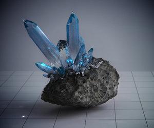 3dsmax rock quartz amethyst