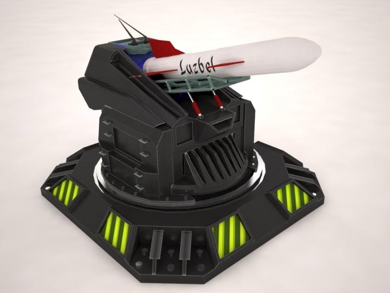 3ds max turret