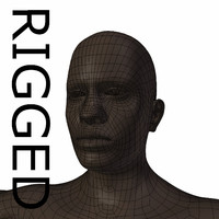 RIGGED young black man Base Mesh
