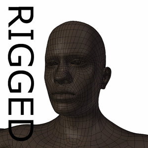 3d rigged base mesh young model