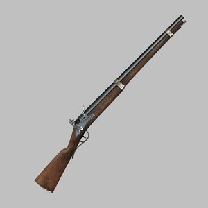 3ds max 19th musket