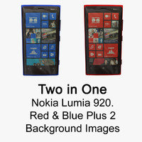 nokia lumia 920 red blue 3d model
