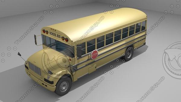 3d school bus model