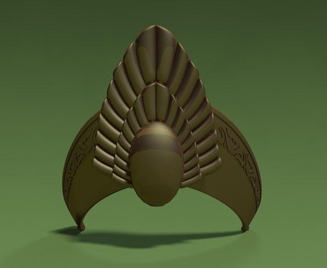 crown lord rings 3d model