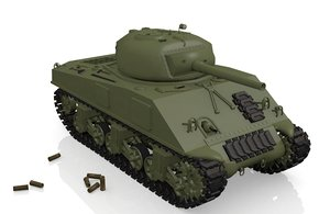 sherman tank wwii 3d 3ds