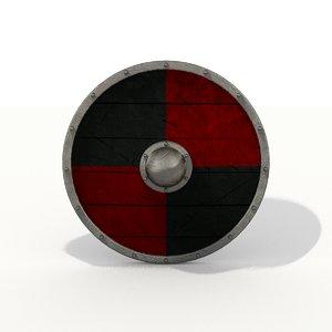 viking shield obj