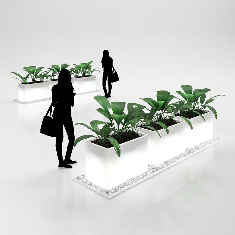 3d model of flower pots