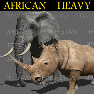 3d elephant rhino games