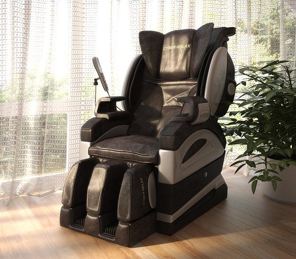 3d model massage chair
