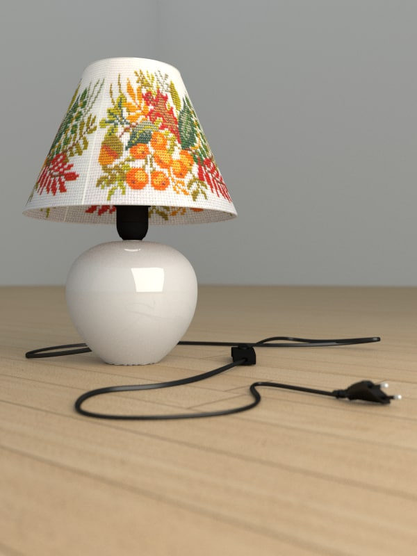 3d lamp lightbulb model