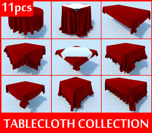 table cloth tablecloth 3d model