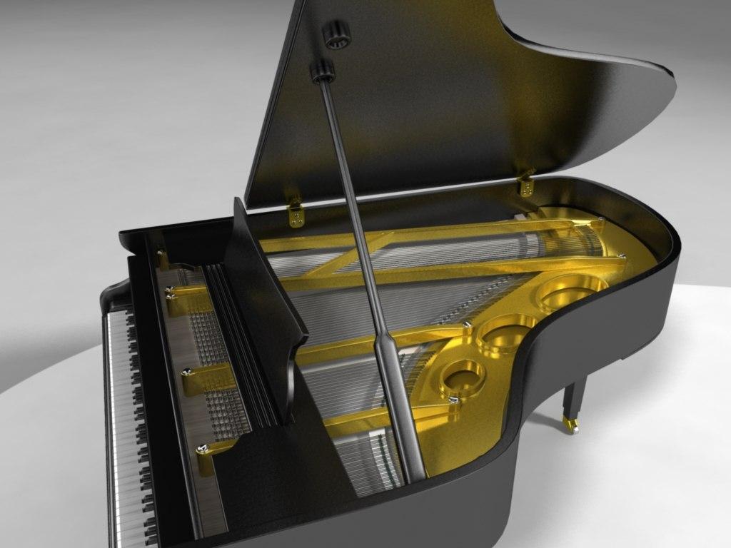 maya yamaha grand piano