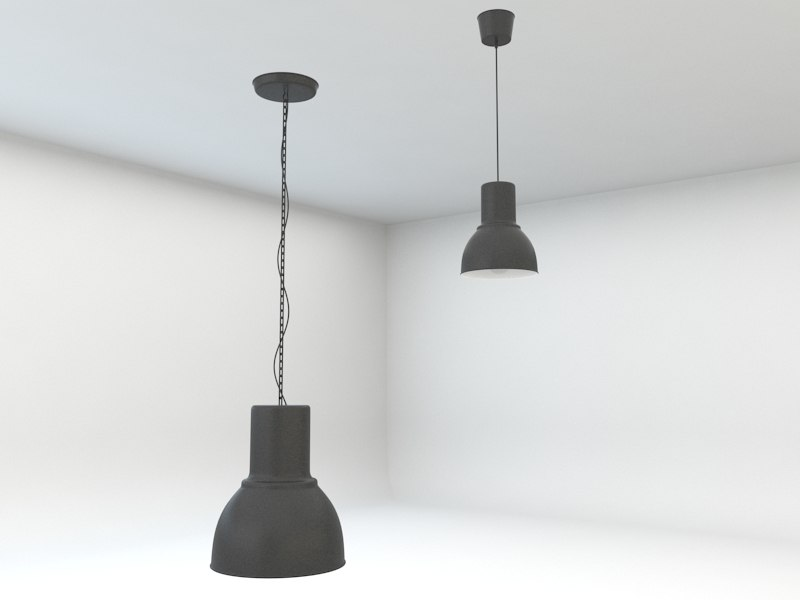 ikea hektar pendant lamps 3d model. Black Bedroom Furniture Sets. Home Design Ideas