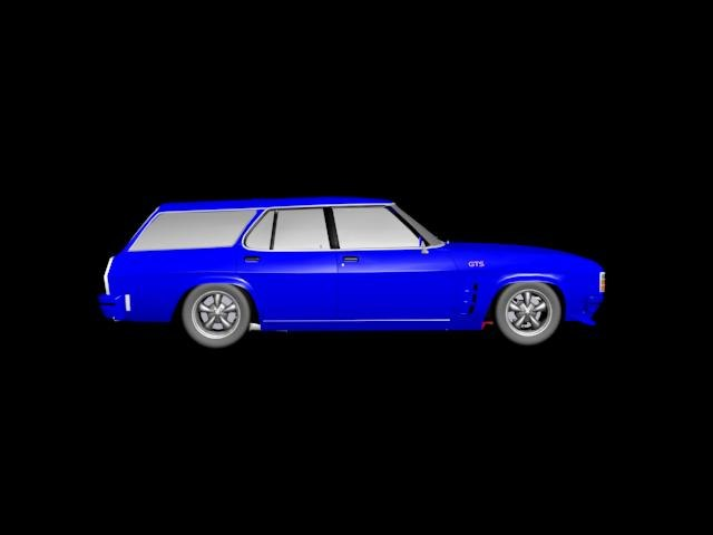 3d holden hz gts wagon model