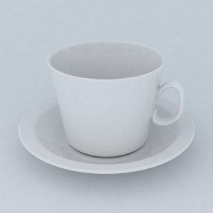 3ds max teacup saucer