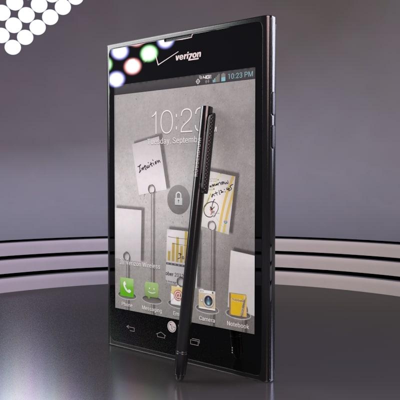 lg intuition cellphone rubberdium 3d max
