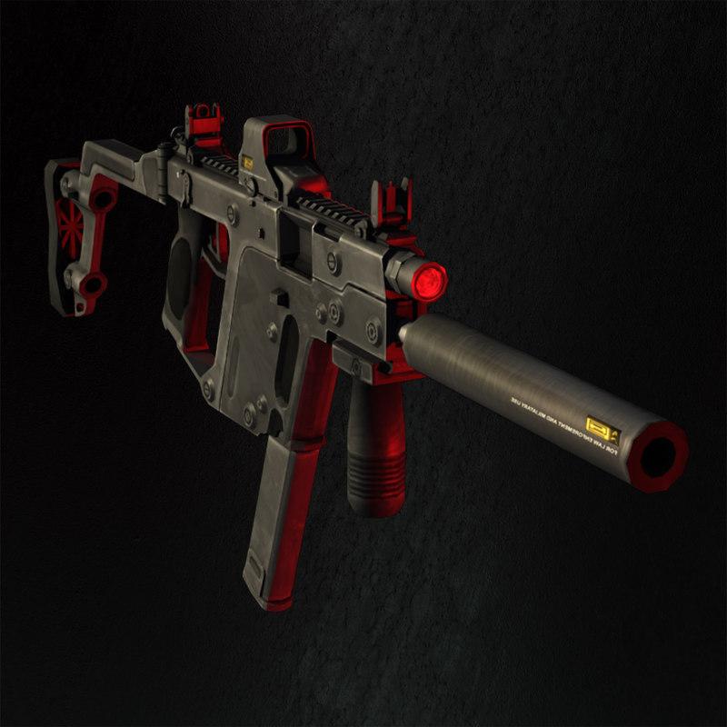 3d model 9mm gun