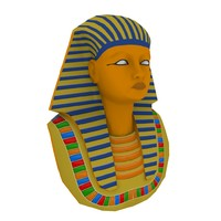 3d pharaoh head model