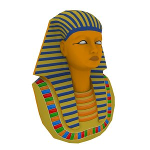 3d pharaoh head model