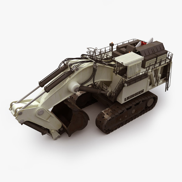 liebherr r9800 mining excavator 3d obj