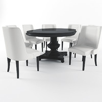 3d maxwell dining table chair model