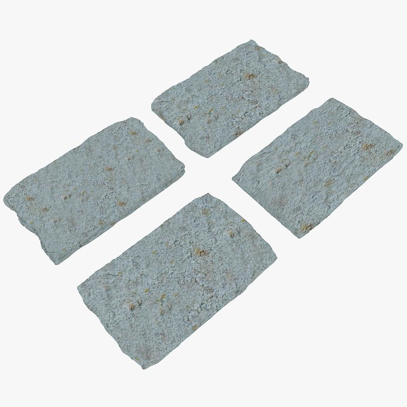 3d stone 03 wall model