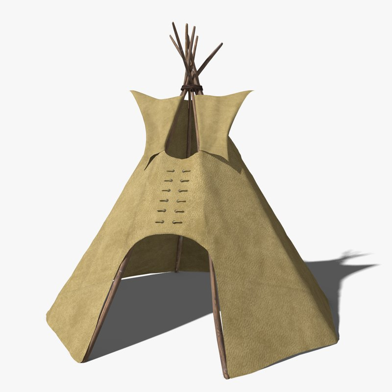 3d model of tipi tent & model of tipi tent