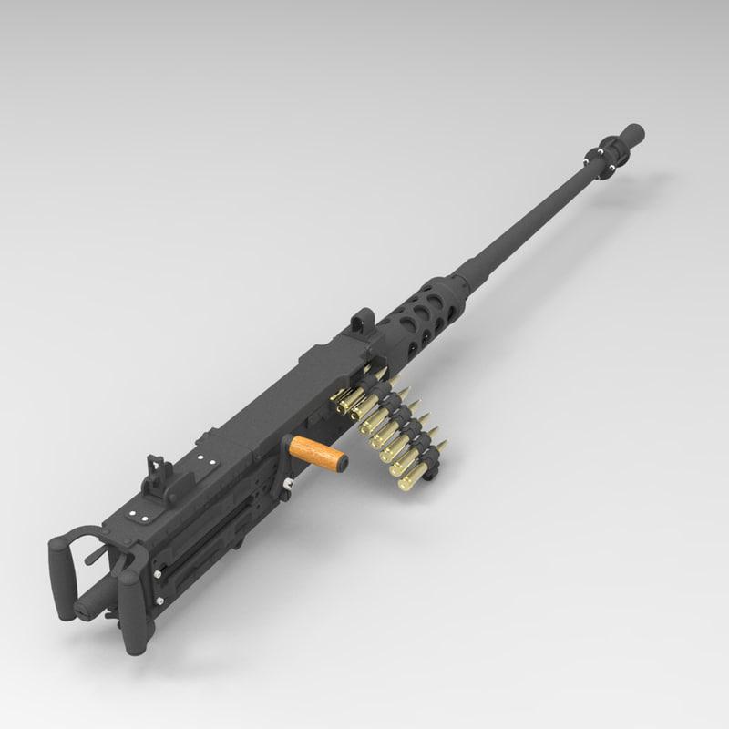 browning machine gun cal 3d max