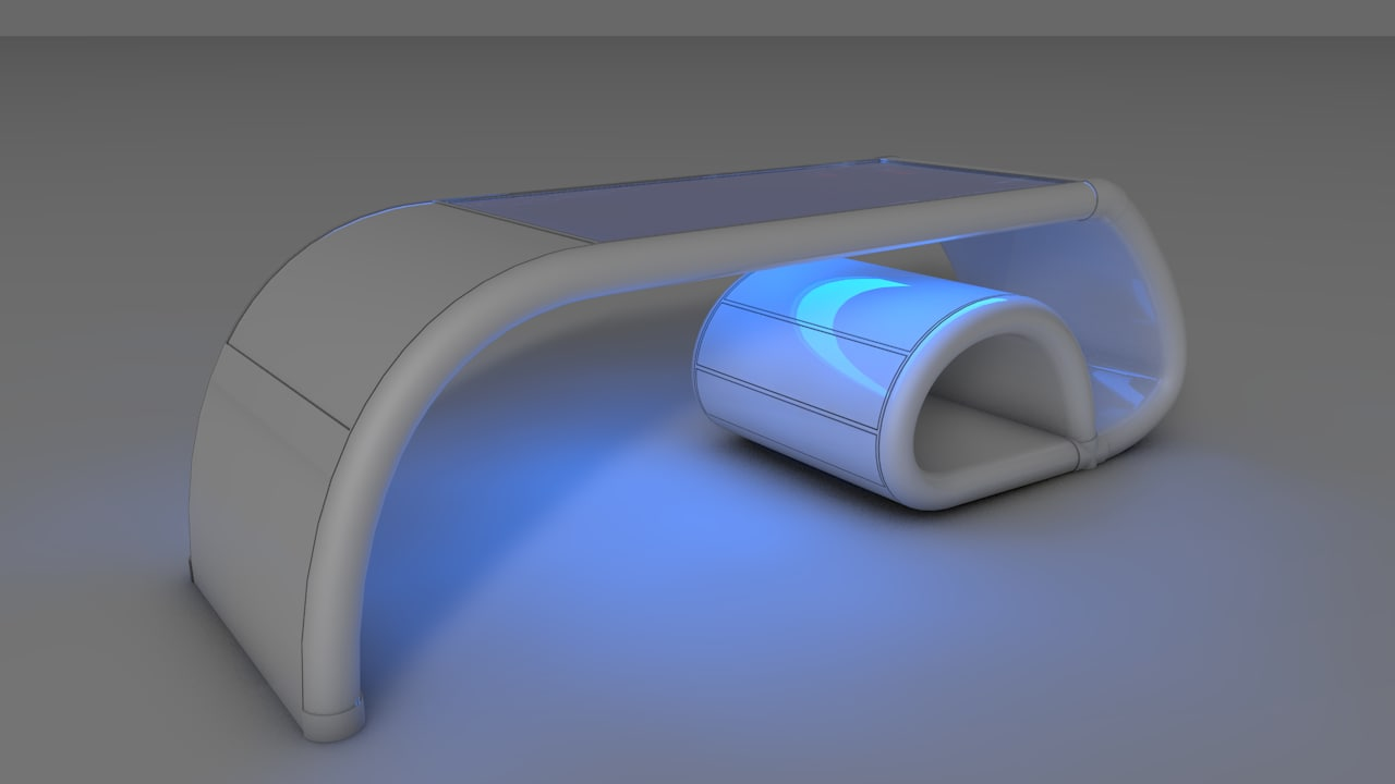 3ds max table computer screen