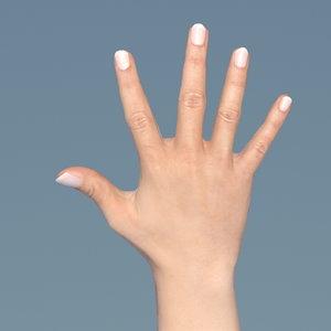 obj female hand
