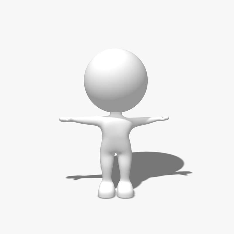 simple character 3d model