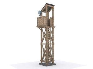 3d max guard tower