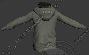 3dsmax hoody shirt scarf