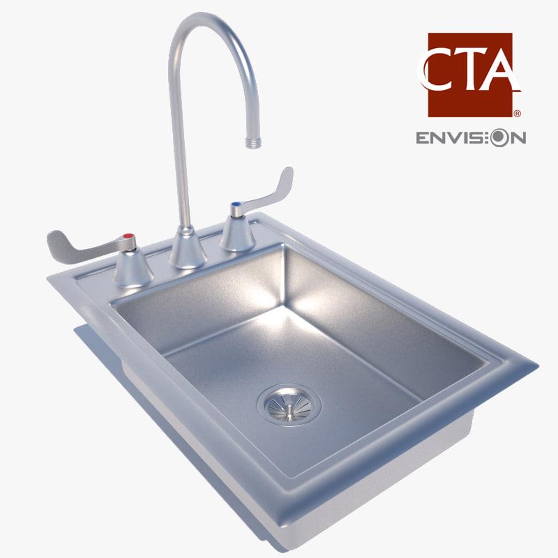 3d utility sink