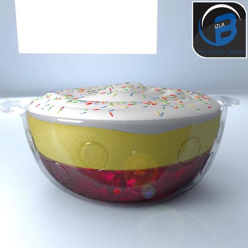 3d trifle desert model