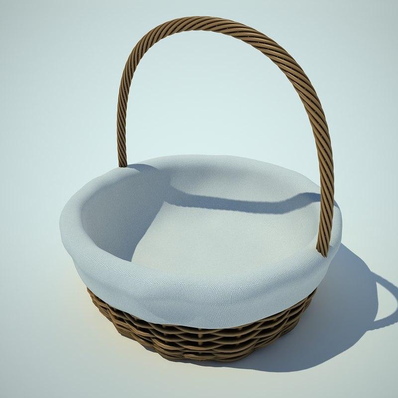 wattled basket 3d model