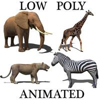 elephant pack 3d model