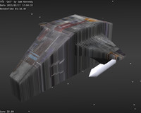 free space ship 3d model